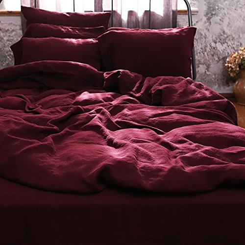 Wine Washed Bed Linen Duvet