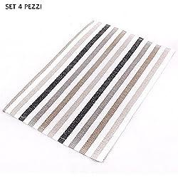 Mantel individual desayuno tela papel trenzada cm 30X 45Juego 4Unidades)