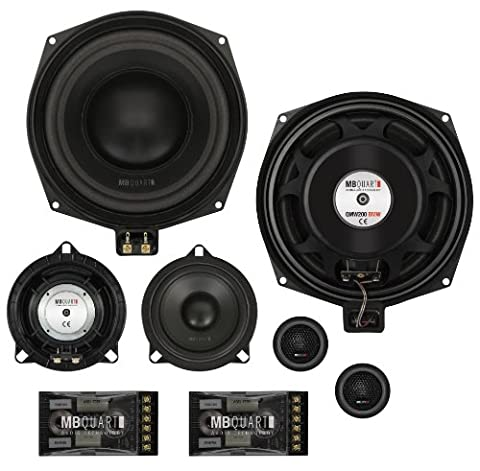 MB Quart Loudspeaker Component System 3-Way 2x 20 cm Perfect Fit Plug and Play Complete System Precise Fit in Existing Speaker Cavities BMW 1s