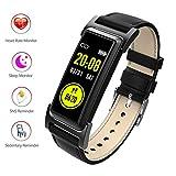 Fitness Tracker/Smart Bracciale, Smart Watch contapassi Impermeabile pedometro di attività Tracker, cardiofrequenzimetro, IP68 Impermeabile, GPS Track, modalità Multi-Sport,Black
