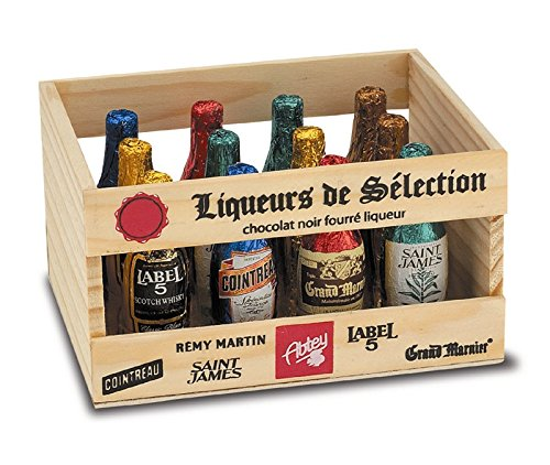 Abtey Wooden Crate of 12 Bottles Liqueurs de Selection 155 g