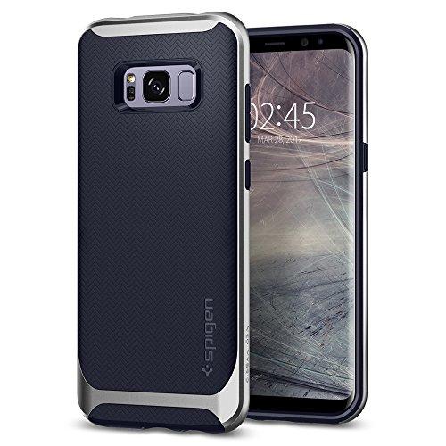 Spigen 565CS21600 Neo Hybrid für Samsung Galaxy S8 Hülle, Zweiteilige Handyhülle Modische Muster Silikon und PC Rahmen Schutzhülle Case Silver Arctic