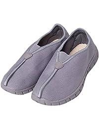 ZOOBOO budista doble–Zapatos de monje Shaolin artes marciales zapatos Kung Fu Zapatillas suela de goma antideslizante calzado transpirable y cómodo para UNISEX, gris