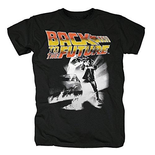 TSP Zurück in die Zukunft - Poster T-Shirt Herren S Schwarz