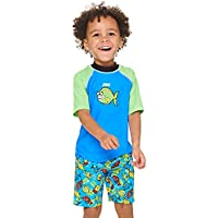 Zoggs Fishy Business - Camiseta de Manga Corta para niños (UPF 50+), Infantil, Color Azul, tamaño 2 años