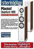 Magnat Quantum 1009 (Stück) Standlautsprecher, Piano Weiß/Seitenteile nussbaum Furnier natur Piano