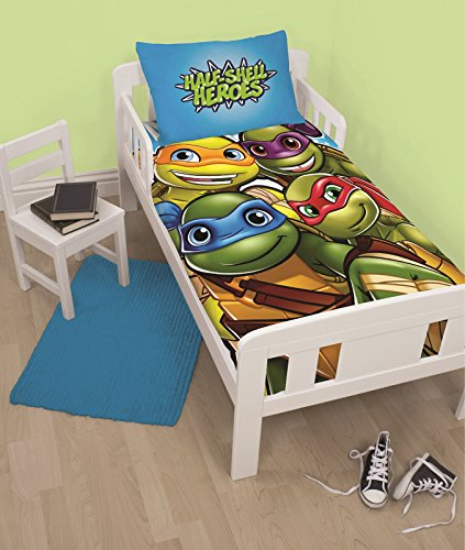 Teenage Mutant Ninja Turtles Junior Bettwäsche-Set für Babybett (Kleinkind Turtle Ninja)