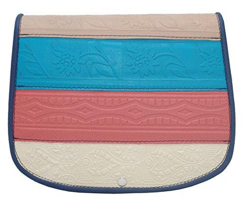 Handgemachte Pflanzlichen Farbstoff (kōson Leder Multi Color Traditionelle Handgemachte geformte Umhängetasche Handtasche Messenger Bag)