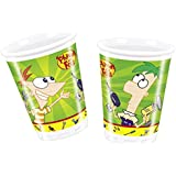Amscan 180ml Phineas and Ferb 10-Plastic Cups