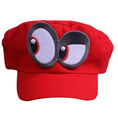 (Super Mario Odyssey Mütze Augen Links - Kostüm-Set für Erwachsene & Kinder - Perfekt für Fasching, Karneval & Cosplay)