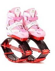 OOFAY TAPS Rebound Chaussures Kangoo Jumps Les Enfants Sautant Pilotent l'exercice De Forme Physique De Rebondissent La Chaîne De Charge De Poids 30-50KG