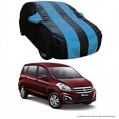 MotRoX Dual Tone Stripe Car Body Cover For Maruti Suzuki Ertiga (Navy Blue with Royal Blue Stripe)  available at amazon for Rs.1036