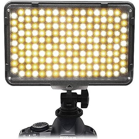 Mcoplus® 168 Bi-color 3200 K - 7500 K Ultra alta potencia Panel profesional Fotografía Digital cámara / videocámara LED Studio iluminación luz de LED para cámara réflex Digital Canon, Nikon, Pentax, Panasonic, Samsung y