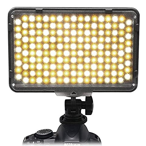 Mcoplus® 168 Bi-color 3200 K - 7500 K de Ultra haute puissance panneau photographie professionnel appareil photo numérique / caméscope LED Studio d'éclairage LED pour reflex numérique Canon, Nikon, Pentax, Panasonic, Samsung et Olympus