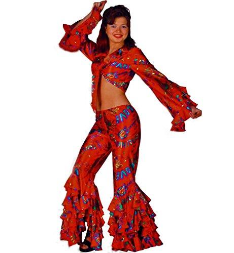 KarnevalsTeufel Damenkostüm Lady Carneval, Bauchfreies Oberteil + Rüschenhose, Hippie, Samba, - Samba Kostüm Brasilien