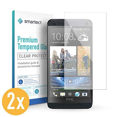 smartect Panzerglas für HTC One M7 [2 Stück] - Bildschirmschutz mit 9H Härte - Blasenfreie Schutzfolie - Anti Fingerprint Panzerglasfolie