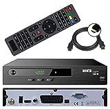 HD Sat Receiver digitaler Satelliten-receiver N0KTA-1461 HD (HDTV,DVB-S/S2, HDMI, 2x USB 2.0, Full HD 1080p,) [vorprogrammiert für Astra Hotbird Türksat ] inkl. HDMI Kabel