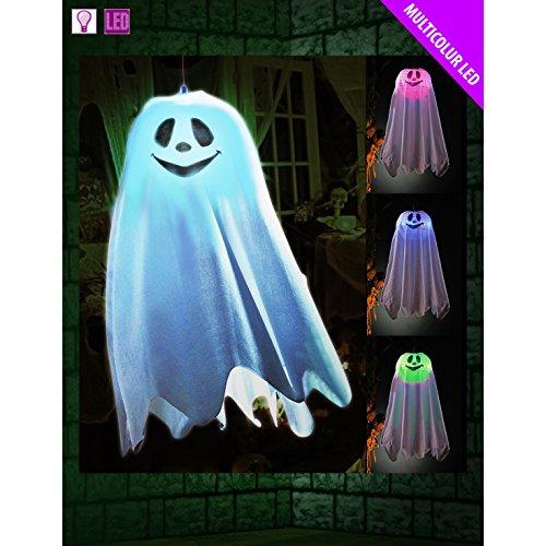 Cherry-on-Top Halloween Ghost Light Aufhängung Farbwechsel Halloween Dekoration Scary (Halloween Ghost Lights)