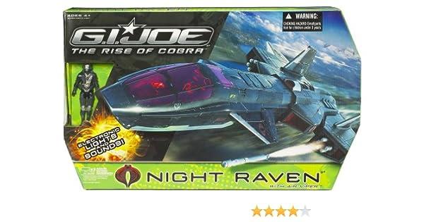 Gi Joe Movie 3.75 Inch Figure /& Echo Vehicle Night Raven with Air Viper Rare ...
