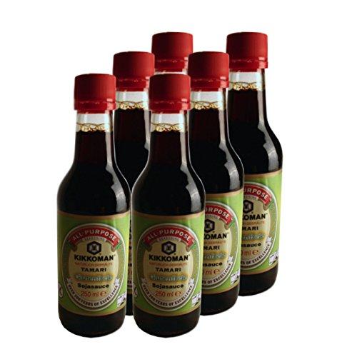 6x250ml-kikkoman-tamari-glutenfreie-sojasauce