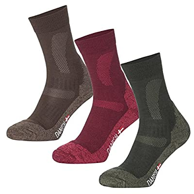 Merino Wool Hiking & Trekking Socks by DANISH ENDURANCE // Performance Socks for Outdoor Enthusiasts // For All Outdoor Activities All Seasons All Year // Temperature Controlled // Padding and Cushioning Reduce Blisters // Trail Tested Comfort // Designed