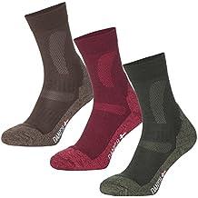 Calcetines de Senderismo y Trekking de Lana Merino de DANISH ENDURANCE® // para hombres y mujeres // 1 par (Verde - FOREST GREEN, EU 43-47 // UK 9-12)