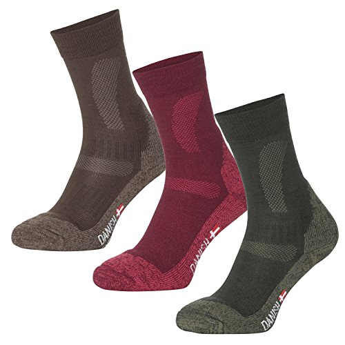 DANISH ENDURANCE Merinowolle Socken // (Grün - FOREST GREEN, EU 39-42 // UK 7-9)