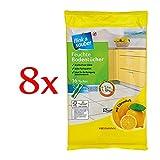 flink & sauber feuchte Bodentücher, 8er Pack (8 x 16 Stück Beutel)