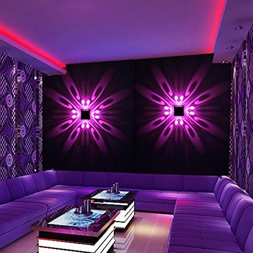 LL Simple mur de mur créatif lampe de mur en aluminium LED Couloir couloir chambre à coucher bar de chevet KTV lumières décoratives Lumière de fond applique murale Lumières de scène , purple