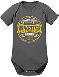 Touchlines Unisex Baby Mr Fusion- Winchester Bros Racing Short Sleeve Bodysuit