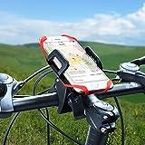 Handyhalterung Fahrrad, Ascher Handyhalterung Fahrrad Smartphone Handyhalter Fahrrad Verstellbar Motorradhalter Halterung für iPhone 7/ 7 Plus/ 6S/ 6S Plus/ 5S Samsung Galaxy S7/ S7 Edge/ S6 Edge / S6 / S5 Smartphones und GPS - 3