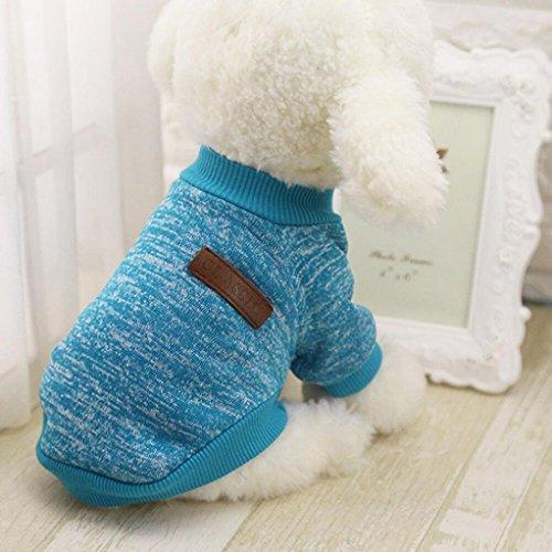 ier Hund Welpe klassische Pullover Pullover Kleider warme Pullover Winter (S, Blau) ()