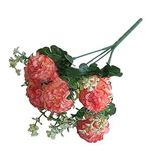 ypypiaol 1 Ramo De Flores Artificiales Crisantemo Planta De Flores Falsas Decoraciones Para Fiestas En El Hogar blanco