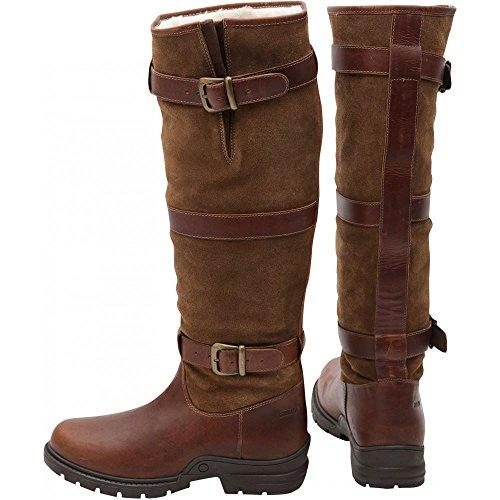 Horka - Stivale highlander impermeabile e foderato in pile da campagna, tutte le misure. Brown