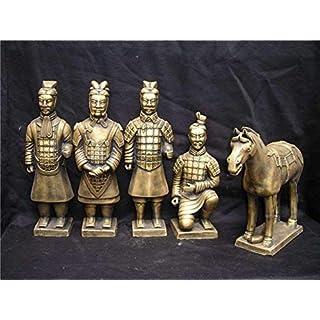 BMYLSYX Fünf-Stück Dekoration Business Geschenk Souvenir Terrakotta Handwerk Chinesisch Handwerk A-Code,Nachahmendes Ku,A