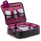 Rio Roller Unisex-Erwachsene Fashion Bag Stofftasche, Mehrfarbig (Black/Pink), 24x15x45 centimeters