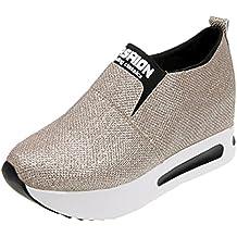 Zapatillas de Deporte para Mujer Otoño 2018 Zapatos de Plataforma de Dama PAOLIAN Casual Lentejuelas Lona