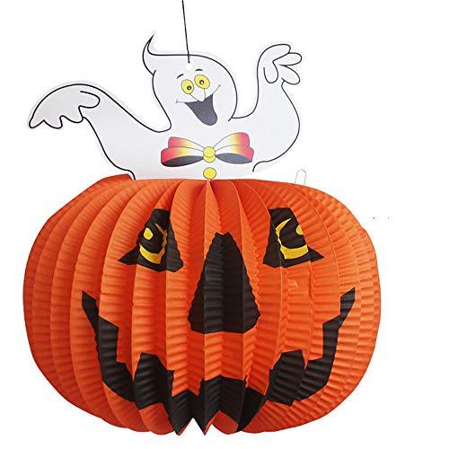 CDD Halloween Kann Gefaltet Werden Kürbis-Laterne Falten Papier Ornamente Kürbis Schwarze Katze Hexe Geist Lustige Bar Nachtclub Dekoration Requisiten Ghost Festival ()