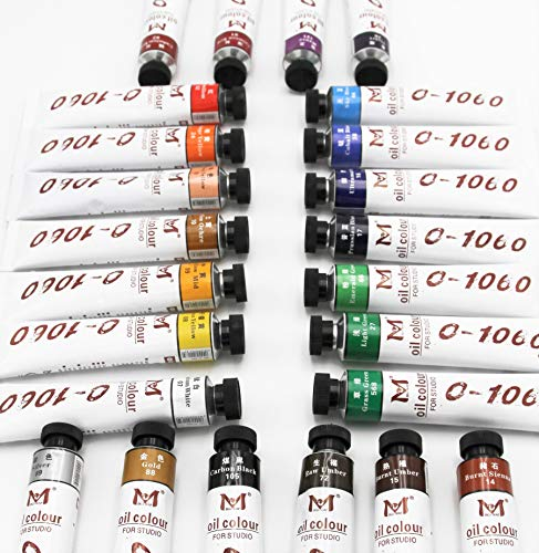 Magi® Ölfarbe, 24 Farben je 180 ml Großtube feine Künstlerqualität (00-Set alle 24 Farben), 4.320 ml Ölfarbe -