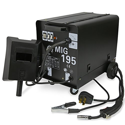 MIG Series Gas-Less Flux Core Wire Welder Welding Machine Automatic Feed Unit DIY (MIG-195) by XtremepowerUS Flux Serie