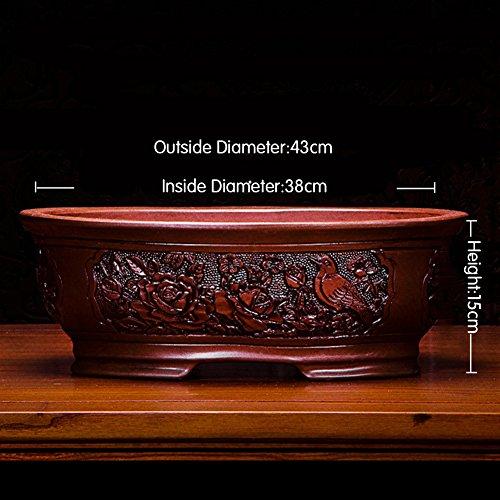 Nclon Dekorative Design Keramikplatten Pflanze Blume Pflanzer Töpfe,Elegante Und Einzigartige...