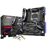 MSI X299 GAMING PRO CARBON AC, LGA 2066, DDR4-4266+(OC), 2x M.2 & 11xUSB 3.1(3x Gen2 & 8x Gen1), 1x USB-C, Mystic Light, Removable Covers, Intel LAN/WIFI, PCIe Steel Armor, ATX Mainboard