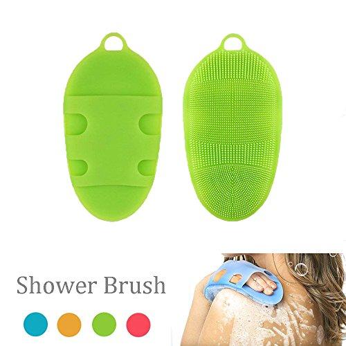 XinFang Silicone Bath Body Brush Suave piel antibacteriana SPA Multi-Use Face Shower Limpiador exfoliante para pieles sensibles todo tipo de Masaje para bebés y adultos (Body Brush Bath)