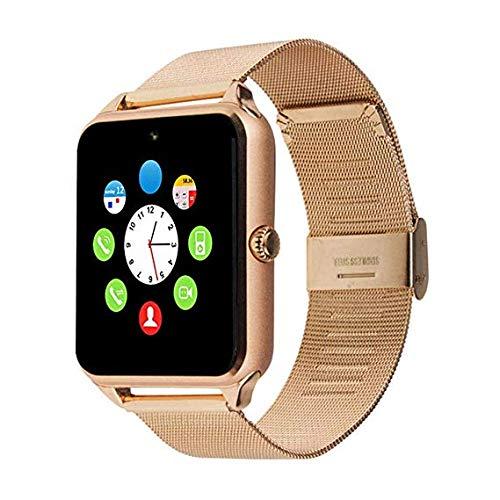 generisch 2019 PromoTech Z60 Sport Smartwatch mit Bluetooth 3.0 + 1.54 inch Touchscreen + Kamera + GSM/GPRS SIM-Karte. Für Android und iOS (Gold)