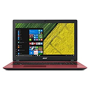 "Acer Notebook Aspire 3 A315-31-C8YW Processore Intel Celeron N3350, RAM 4 GB DDR3, 1000 GB HDD, Display LCD 15.6"" HD Acer ComfyView, Windows 10 Home, Rosso"