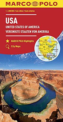 MARCO POLO Kontinentalkarte USA 1:4 000 000: Wegenkaart 1:4 000 000 (MARCO POLO Kontinental /Länderkarten)