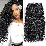 UR Beautiful 8A tissage bresilien boucle cheveux naturel bresilienne 18 20 22 pouce bresilienne bouclée de vague d'eau cheveux bresilien cheveux couleur naturelle 300g total