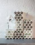 koziol Flaschenregal  Set-Up,  Kunststoff, solid weiß, 23 x 35.3 x 36.4 cm - 4