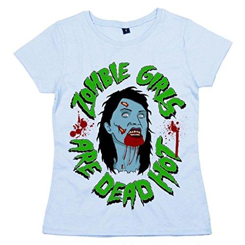 DF, Zombie Girls are Dead Hot, Damen T-shirt, Hellblau, 16-18 XL