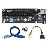 Amazingdeal365 PCI-E USB3.0 minería de cable minería dedicada línea 16X, longitud 50cm negro